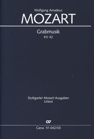 Grabmusik K 42 - MOZART - Partition - Chœur - laflutedepan.com