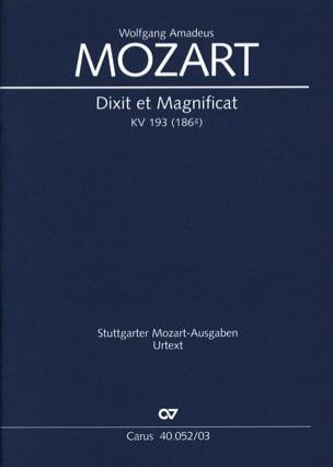 Dixit et Magnificat K 193 - MOZART - Partition - laflutedepan.com
