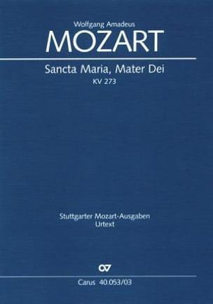 MOZART - Sancta Maria Mater Dei K 273 - Partition - di-arezzo.fr