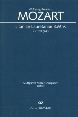 Litaniae Lauretanae B. M. V. K 109 - MOZART - laflutedepan.com
