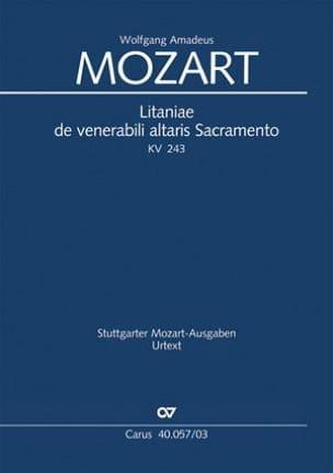 MOZART - Litaniae de Venerabili Altaris Sacramento Kv 243 - Partition - di-arezzo.fr