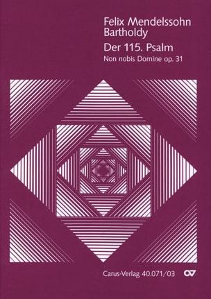 MENDELSSOHN - Der 115. Psalm Opus 31 - Sheet Music - di-arezzo.com
