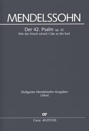 Félix MENDELSSOHN - Der 42. Psalm. Wie Der Hirsch Schreit - Partition - di-arezzo.fr