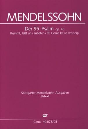 MENDELSSOHN - Psalm 95 Opus 46 - Noten - di-arezzo.de