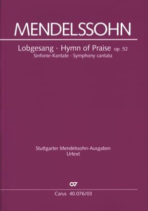 MENDELSSOHN - Lobgesang Opus 52 - Partition - di-arezzo.fr