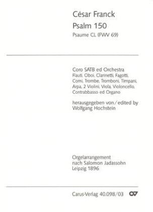 César Franck - Psaume 150 Fwv 69 - Partition - di-arezzo.fr