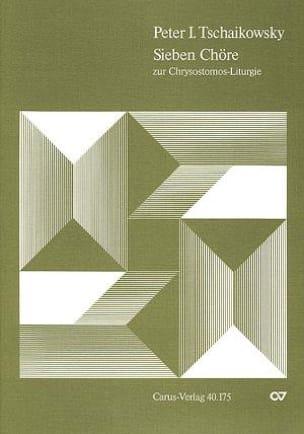 TCHAIKOWSKY - Chrysostomos-Liturgy I Opus 41 - Sheet Music - di-arezzo.com