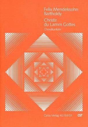 Christe, Du Lamm Gottes Opus 30 MENDELSSOHN Partition laflutedepan