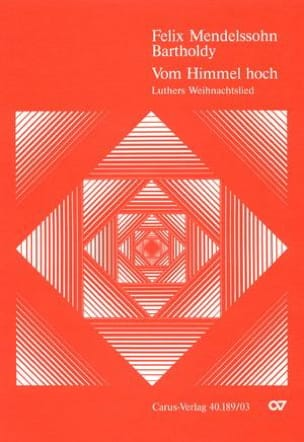 MENDELSSOHN - Vom Himmel hoch - Sheet Music - di-arezzo.co.uk