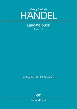 Georg-Friedrich Haendel - Laudate Pueri. Orgue - Partition - di-arezzo.fr