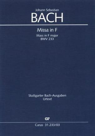 Missa F-Dur BWV 233 BACH Partition Chœur - laflutedepan