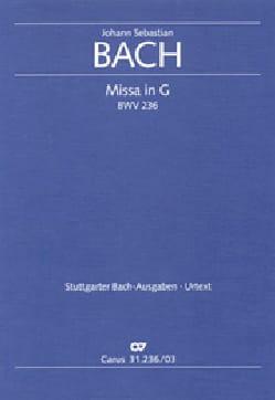 Missa G-Dur BWV 236 BACH Partition Chœur - laflutedepan
