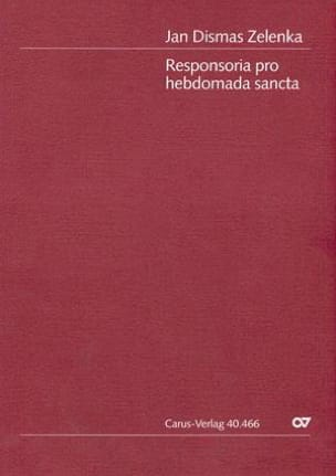 Jan Dismas Zelenka - Responsibility of Hebdomada Sancta Zwv 55 - Sheet Music - di-arezzo.co.uk