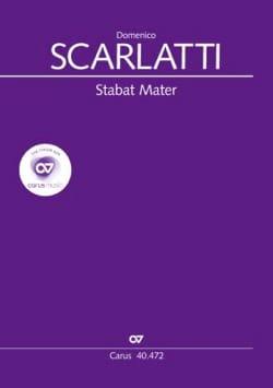 Stabat Mater. Choeur seul Domenico Scarlatti Partition laflutedepan