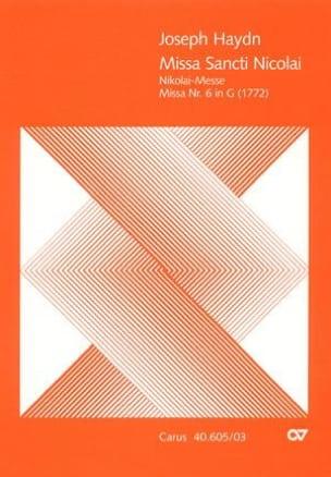 Missa Sancti Nicolai - Hob 22-6 - HAYDN - Partition - laflutedepan.com
