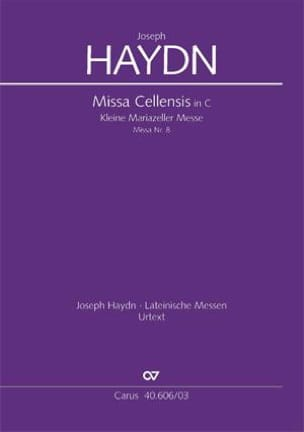 HAYDN - Missa Cellensis - Mariazeller Messe Hob 22-8 - Partition - di-arezzo.fr
