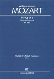 MOZART - Missa in c (Waisenhaus-Messe). Kv 139 (114a) - Sheet Music - di-arezzo.com