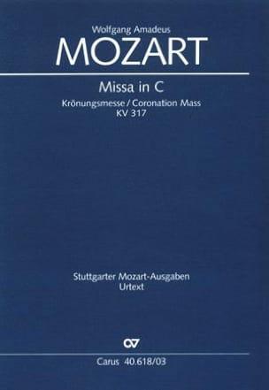 MOZART - Krönungsmesse. KV 317 - Partitura - di-arezzo.es