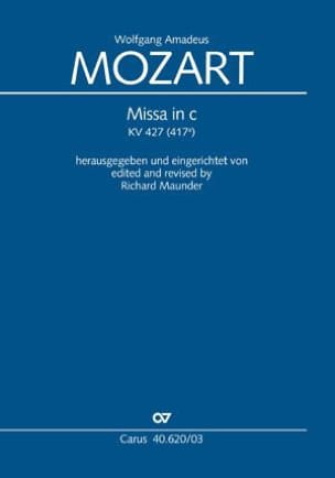 MOZART - Grande Messe En Ut Mineur K 427 - Partition - di-arezzo.fr