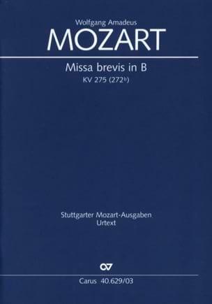 MOZART - Missa brevis in B KV 275 (272b) - Partition - di-arezzo.fr