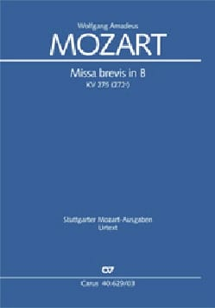 MOZART - Missa brevis in B KV 275 272b - Sheet Music - di-arezzo.co.uk
