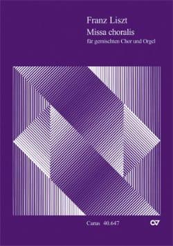 Missa choralis Franz Liszt Partition Chœur - laflutedepan