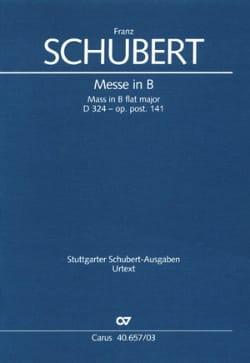 Franz Schubert - Messe En Si D 324. Op. Posth. 141 - Partition - di-arezzo.fr