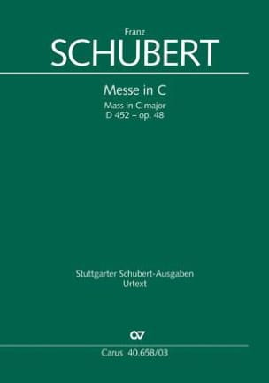 SCHUBERT - Mass In Ut D 452 Opus 48 - Sheet Music - di-arezzo.co.uk
