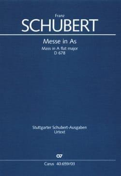 SCHUBERT - Messe en LA bémol Majeur - D 678 - Partition - di-arezzo.fr