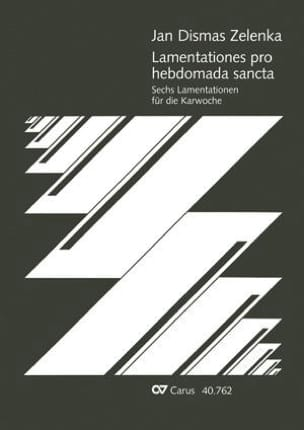 Jan Dismas Zelenka - 6 Lamentationses Pro Hebdomada Sancta - Sheet Music - di-arezzo.co.uk