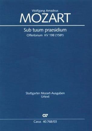 MOZART - Sub Tuum Praesidium K 198 - Partition - di-arezzo.fr