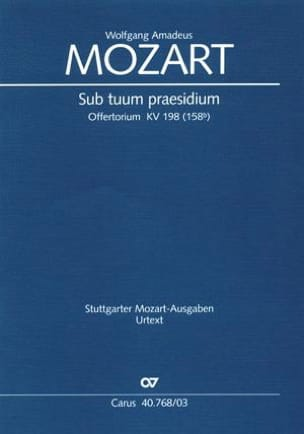 MOZART - Sub Tuum Praesidium K 198 - Sheet Music - di-arezzo.co.uk