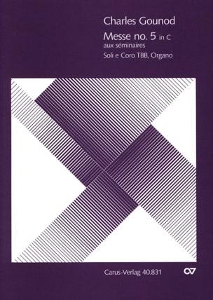 Charles Gounod - Messe Brève N°5 Aux Séminaires En Ut Majeur - Partition - di-arezzo.fr