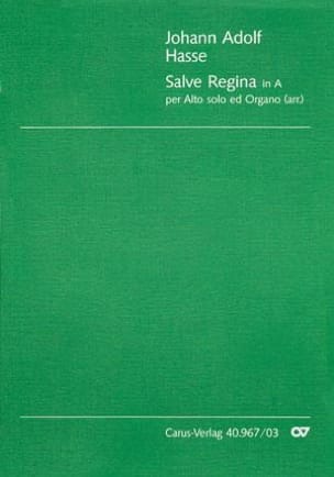 Salve Regina - Johann Adolf Hasse - Partition - laflutedepan.com