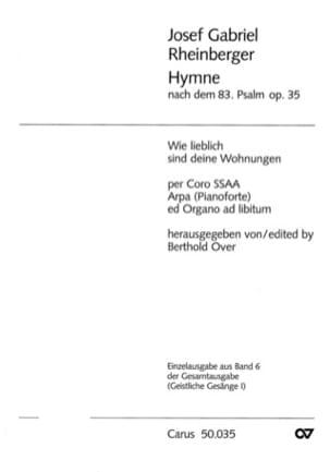 Joseph Rheinberger - Wie Lieblich Sind Deine Wohnungen Opus 35 - Sheet Music - di-arezzo.com