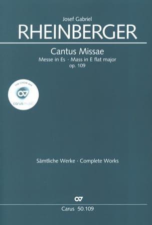Josef Gabriel Rheinberger - Cantus Missae En Mi Bémol Opus 109 - Partition - di-arezzo.fr