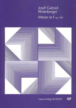 Missa In Fa Mineur Opus 159 - Joseph Rheinberger - laflutedepan.com