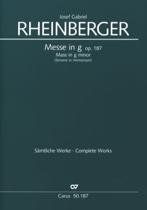 Josef Gabriel Rheinberger - Missa In G For Frauenchor Opus 187 - Sheet Music - di-arezzo.co.uk