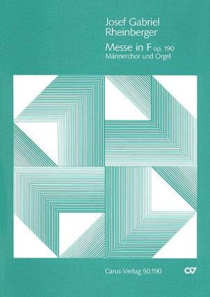 Josef Gabriel Rheinberger - Missa En Fa Majeur Op. 190 - Partition - di-arezzo.fr
