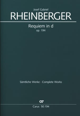 Joseph Rheinberger - Requiem In D Minor Opus 194 - Sheet Music - di-arezzo.co.uk