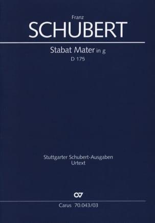 Franz Schubert - Stabat Mater D 175 - Partition - di-arezzo.fr