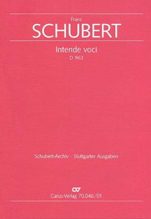 Intende Voci D 963. Conducteur - Franz Schubert - laflutedepan.com