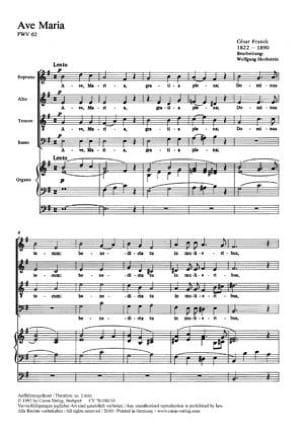 César Franck - Ave Maria - Sheet Music - di-arezzo.co.uk
