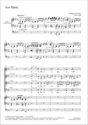 Gioachino Rossini - Ave Maria - Sheet Music - di-arezzo.com