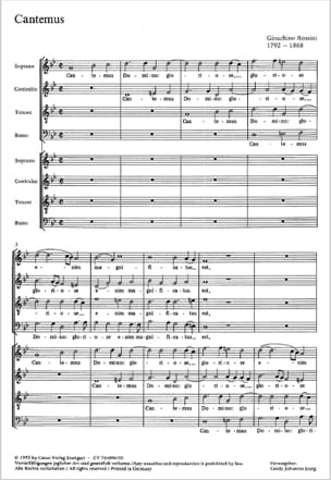 Gioachino Rossini - Cantemus Domino - Sheet Music - di-arezzo.co.uk