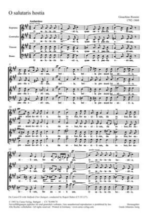 Gioachino A Rossini - O salutaris hostia - Partition - di-arezzo.fr