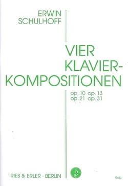 Erwin Schulhoff - 4 Klavierkompositionen - Partition - di-arezzo.fr