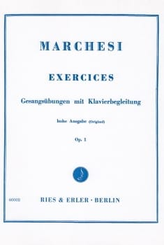 Mathilde Marchesi - Exercises with Klavierbegleitung Opus 1 - Sheet Music - di-arezzo.com
