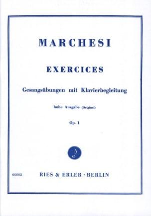 Mathilde Marchesi - Exercises mit Klavierbegleitung Opus 1 - Partition - di-arezzo.fr