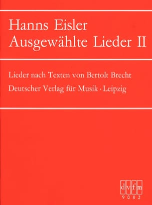 Ausgewählte Lieder 2 Hanns Eisler Partition Mélodies - laflutedepan